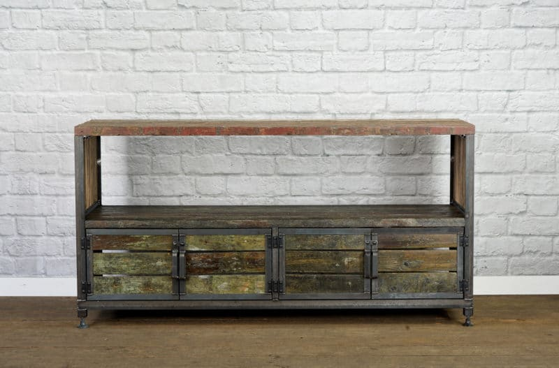 Barge wood media console