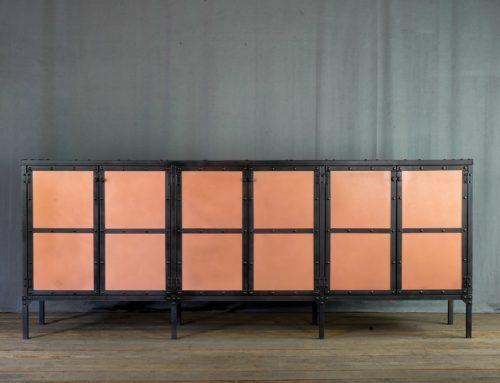 Industrial Copper Credenza, Modern Copper Buffet
