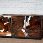 modern leather buffet
