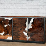 real leather credenza