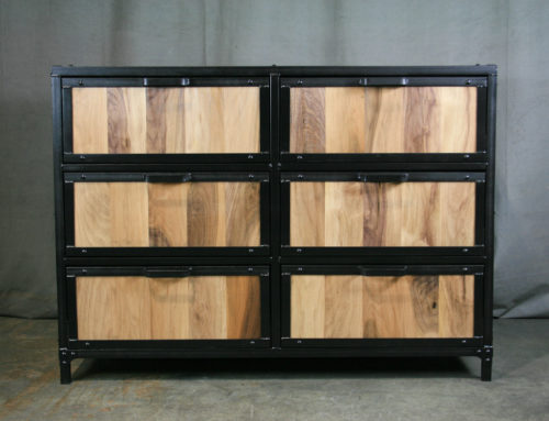Modern Industrial Walnut Dresser, New Walnut Dresser, Dovetail Drawers