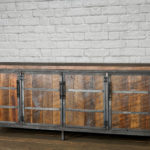barn wood liquor cabinet