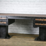 rustic sit stand desk