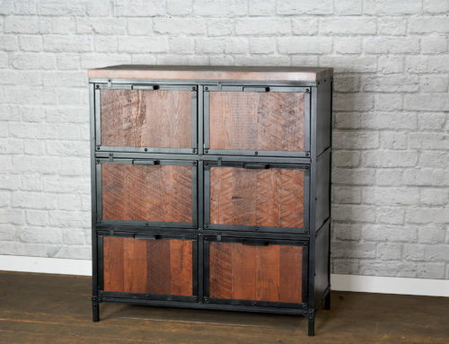 Industrial Filing Cabinet, Reclaimed Wood File Drawers